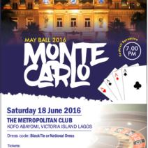May Ball – Saturday 18 June 2016