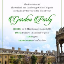 Garden Party -Sunday 18 December 2016