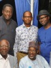 PIX 12. L-R (Back Row,) Dr. Wale Babalakin; Akinfela Akoni, Timi Austen-Peters; (front Row) Prof. Theo Ogunbiyi and