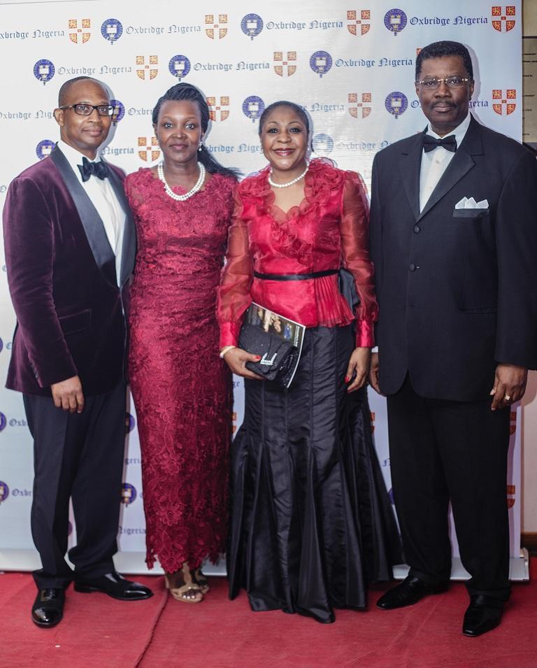 Mr. & Mrs. Akinfela Akoni with Prince Dr. & Mrs Bolu Akin-Olugbade