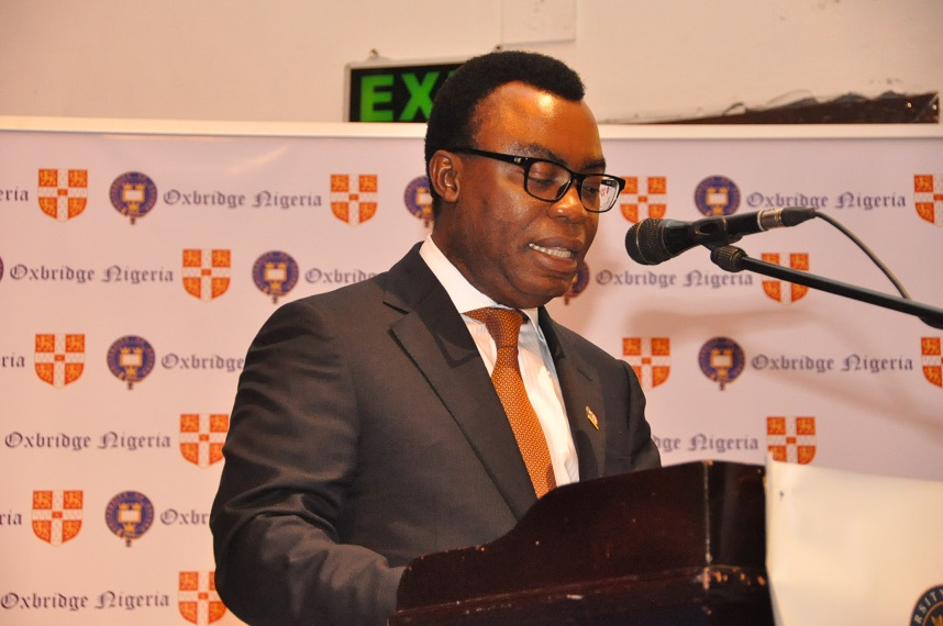10. Dr. Fidelis Oditah while presenting his points at the debate.
