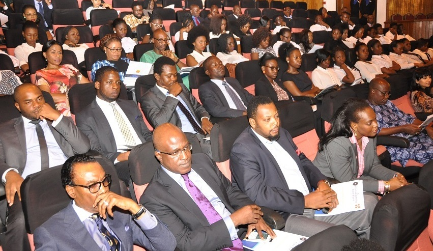 6. Mr. Bismarck Rewane and Mr. Tolu Osinibi ( front row, left-right) in the audience during the Oxbridge Debate