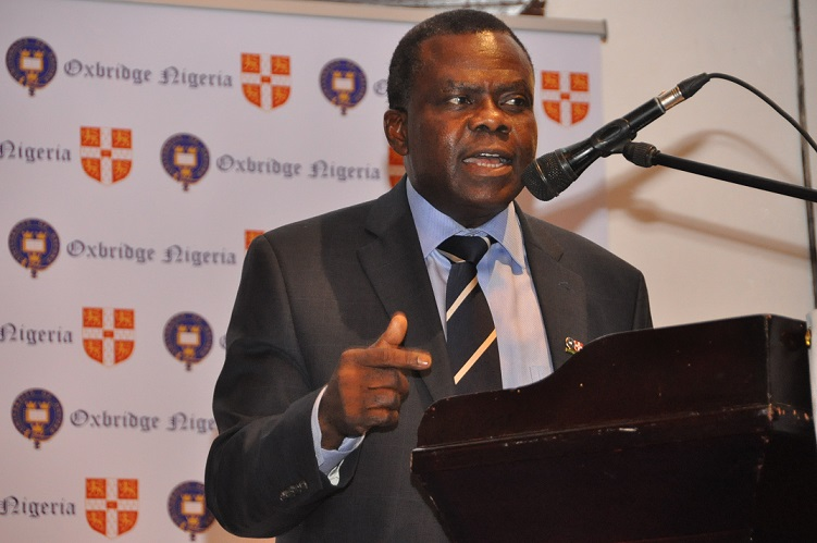 7. Dr. Bright Okogu while speaking on the topic, Nigeria, Democracy and The Economy.