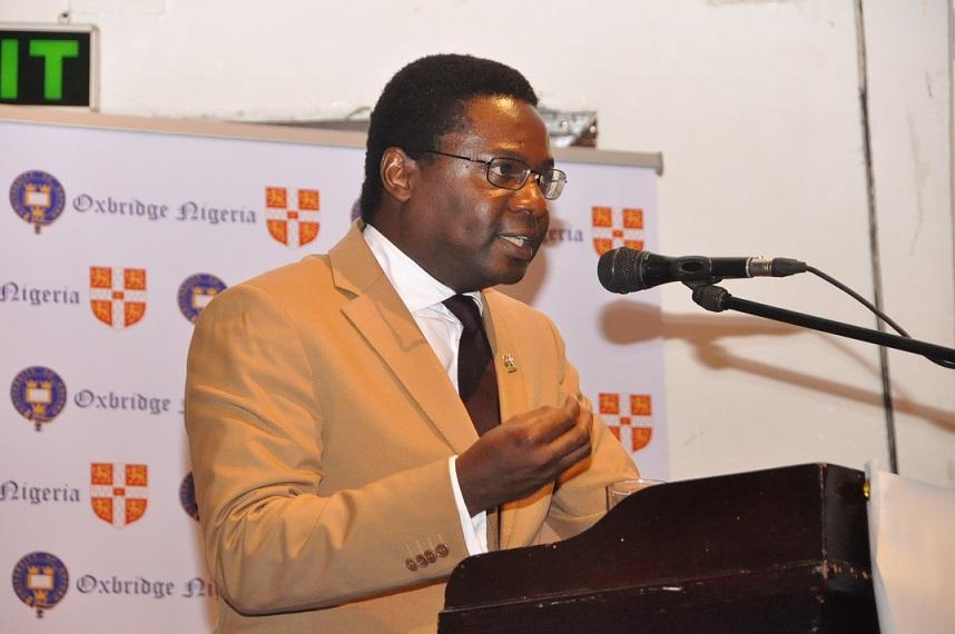 8. Mr. Demola Akinrele while presenting his stance at the debate.