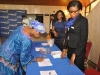 2. Arrival and registration of guests at the inaugural Oxbridge Debate 2015.