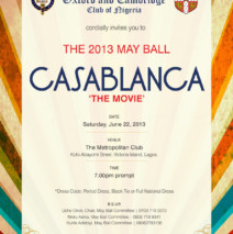 May Ball – 22 June 2013
