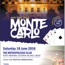 May Ball – Saturday 18 June 2016