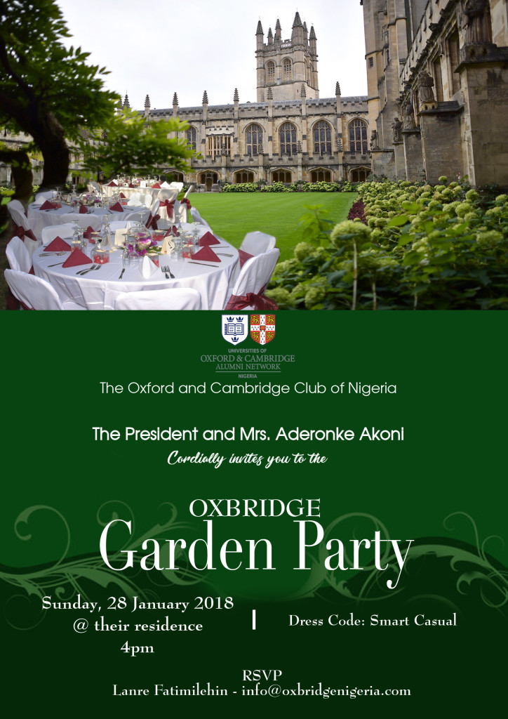 Oxbridge Garden Party 2017